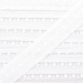 Broderie anglaise Mélusine 30 mm - blanc x 1m