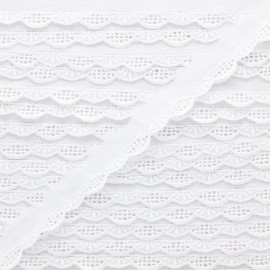 Broderie anglaise Pascaline 15 mm - blanc x 1m