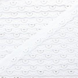 Broderie anglaise Rosélie 20 mm - blanc x 1m