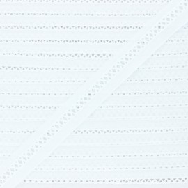 Broderie anglaise Suzalie 20 mm - blanc x 1m