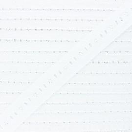 28 mm english embroidery - white Théonie x 1m