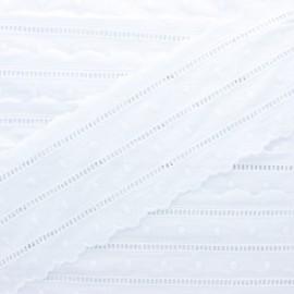100 mm english embroidery - white Hilda x 1m