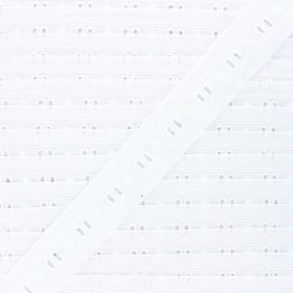 30mm english embroidery - white Viviette x 1m