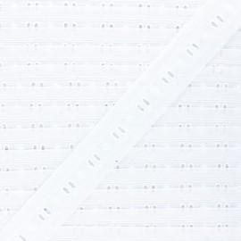 Broderie anglaise Viviette 30 mm - blanc x 1m