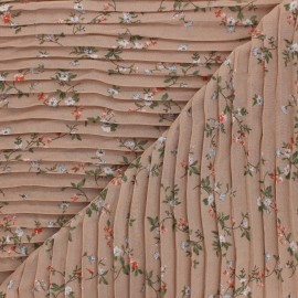Pleated polyester fabric - beige Galerie Vivienne x 10cm