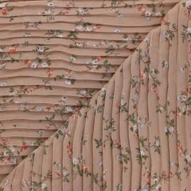 Tissu polyester plissé Galerie Vivienne - beige rosé x 50cm