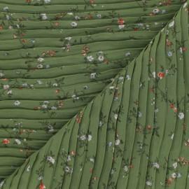 Tissu polyester plissé Galerie Vivienne - vert x 50cm
