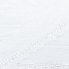 95mm english embroidery - white Célestine x 1m