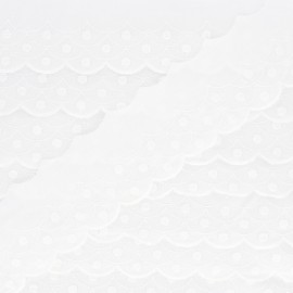 Broderie anglaise Mylène 55mm - écru x 1m