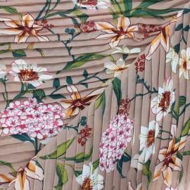 Tissu polyester plissé Basse-terre - beige rosé x 50cm