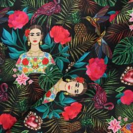 Tissu damassé Allegria - noir x 10cm