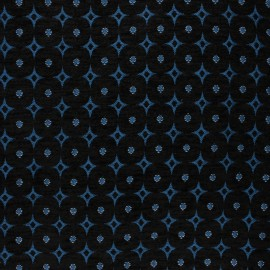 Jacquard fabric -  blue Bosphore x 10cm
