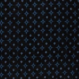 Tissu jacquard Bosphore - bleu x 10cm