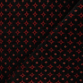 Jacquard fabric - red Bosphore x 10cm