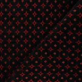 Tissu jacquard Bosphore - rouge x 10cm