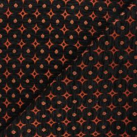 Tissu jacquard Bosphore - roux x 10cm