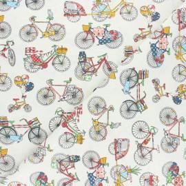 Tissu coton cretonne Biclycle trip - multicolore x 10cm