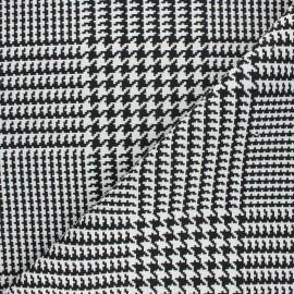 Jacquard fabric - white Gallois x 10cm