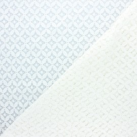 Lace fabric - raw Flore x 10cm