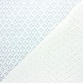 Tissu dentelle Flore - écru x 10cm