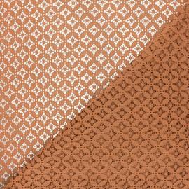 Tissu dentelle Flore - roux x 10cm