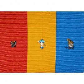 Tissu sweat léger Stenzo panneau - hipster club - bleu x 100cm