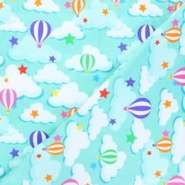 Tissu jersey Sky balloon - menthe x 10cm