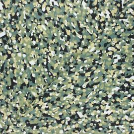 Cretonne cotton fabric - khaki green Clark x 10cm