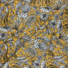 Cretonne cotton fabric - curry yellow Java x 10cm