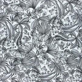 Cretonne cotton fabric - white Java x 10cm