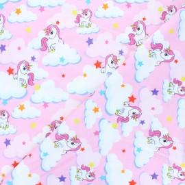 Printed Jersey fabric - pink Unicorn dream x 10cm