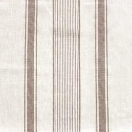 Tissu toile lin enduit Lilly - blanc/naturel x 10cm
