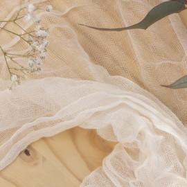 Tissu simple gaze de coton - naturel x 10cm