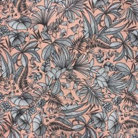 Cretonne cotton fabric - peach Java x 10cm