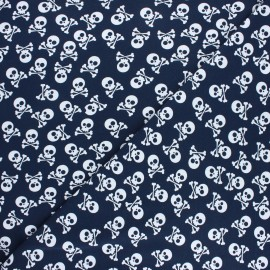 Printed Jersey fabric - night blue Pirates en vue! x 10cm