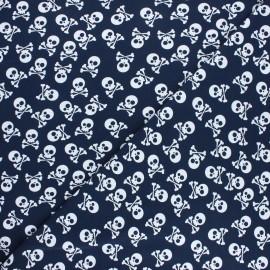 Tissu jersey Pirates en vue! - bleu nuit x 10cm