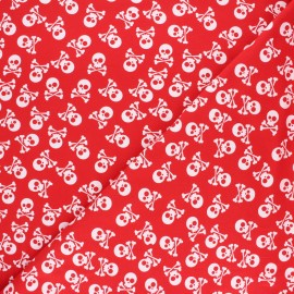Printed Jersey fabric - red Pirates en vue! x 10cm