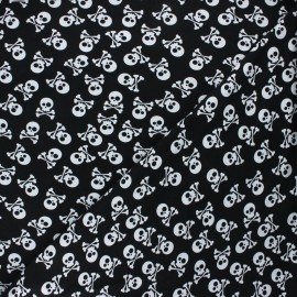 Printed Jersey fabric - black Pirates en vue! x 10cm