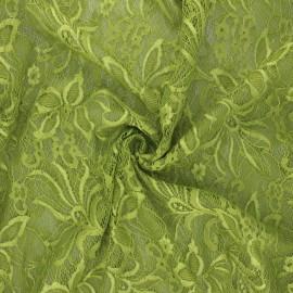 Tissu dentelle élasthanne Annie - vert x 10cm