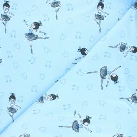 Tissu jersey Dancing Jenny - bleu clair x 10cm