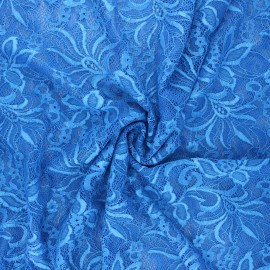 Tissu dentelle élasthanne Annie - bleu roi x 10cm