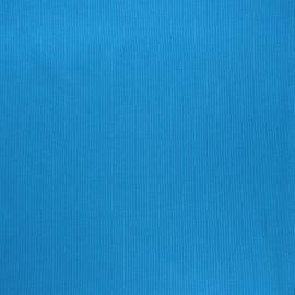 Tissu jersey tubulaire bord-côte 1/2 bleu   x 10cm