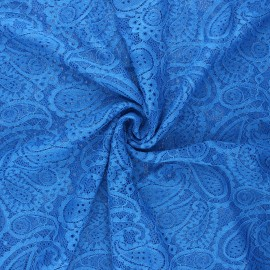 Elastane lace fabric - royal blue Luce x 10cm