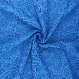 Tissu dentelle élasthanne Luce - bleu roi x 10cm