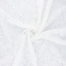Tissu dentelle élasthanne Luce - blanc x 10cm