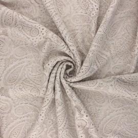 Tissu dentelle élasthanne Luce - grège x 10cm