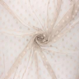 Tissu tulle souple Point d'esprit Maxi Millie - grège x 10cm