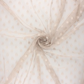 Tulle fabric - greige Maxi Millie x 10 cm