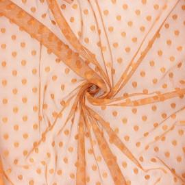 Tissu tulle souple Point d'esprit Maxi Millie - roux x 10cm