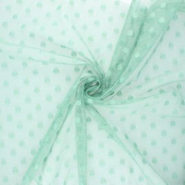 Tulle fabric - sage green Maxi Millie x 10 cm